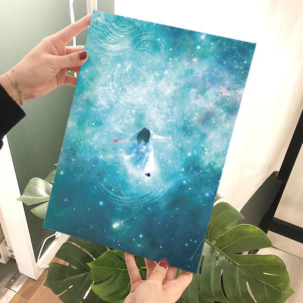 김주환 Stargazing 파랑 아트캔버스