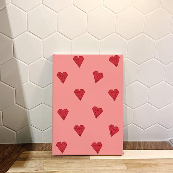 하트보석 핑크 아트캔버스