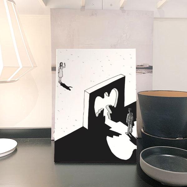 실버해리 그림자문 아트캔버스