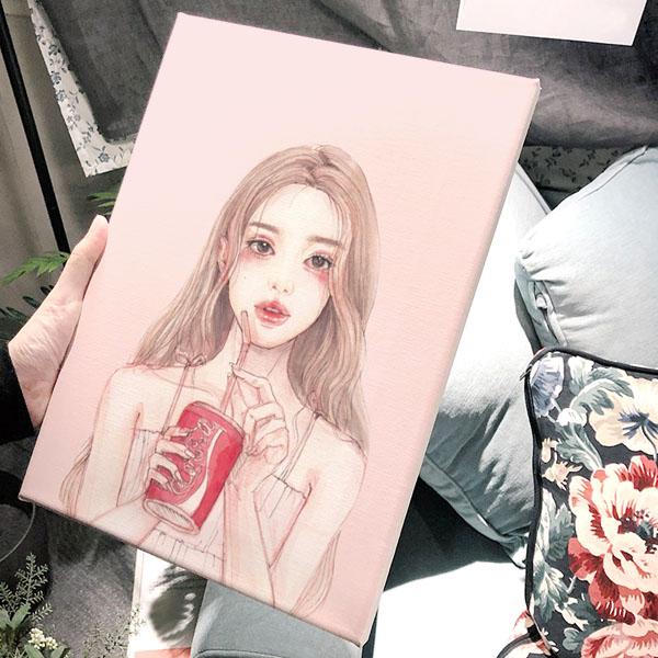 DH 콜라 핑크 아트캔버스