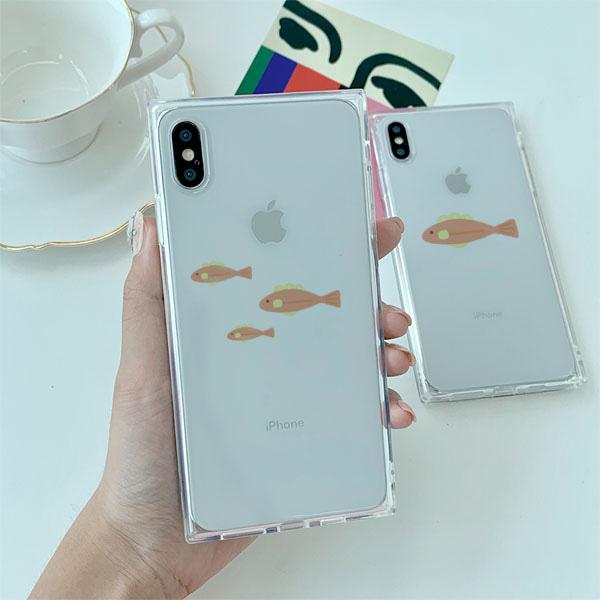 벼기 분홍물고기 아이폰큐브케이스