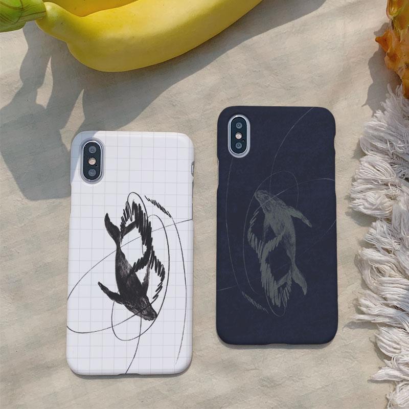 흰달 낙서 하드케이스