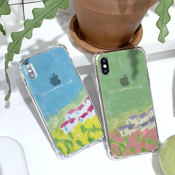 샤이드로잉크럽 유채꽃밭 방탄케이스